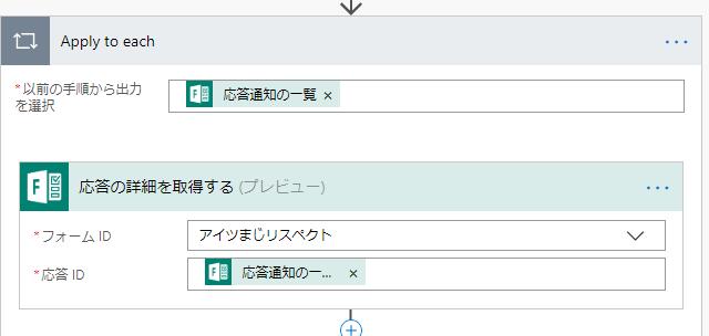 Forms アンケートが投稿されたら、内容をTeamsに投稿したい